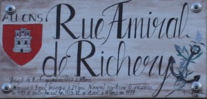 Rue principale intitulé Amiral De Richery