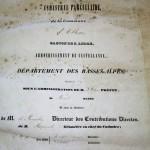 Atlas cadastral parcellaire de la commune d'Allons 1839